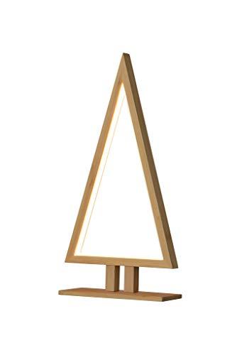 Sumpex – tafellamp, bamboe, 38 cm, pijnboom