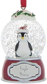 Things Remembered Personalized Penguin Snow Globe Ornament with Engraving Included