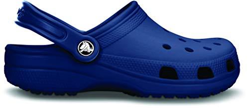 Crocs unisex adult Classic   Water Shoes Comfortable Slip on Shoes Clog, Navy, 9 Women 7 Men US