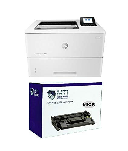 MICR Toner International Laserjet Enterprise M507n Laserjet Printer Bundle with 1 CF289A 89A Magnetic Ink Cartridge for Check Printing