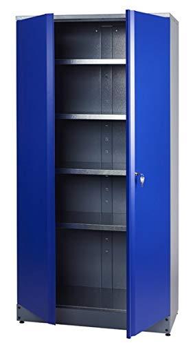 Küpper Hochschrank Modell 70287, 204 x 53 x 91 cm Farbe ultramarinblau