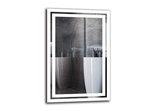 ARTTOR Badspiegel mit Beleuchtung. Bad Dekoration - Wandspiegel Groß und Spiegel Klein mit Led Licht. Unterschiedliche Lichtanordnung und Alle Dimensionen - M1ZP-52-40x60