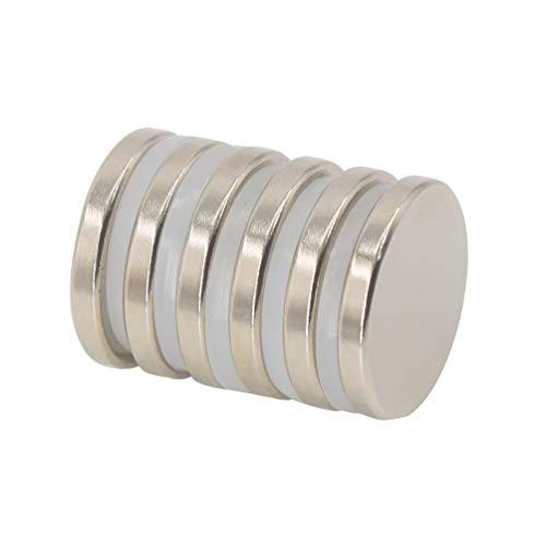 Magnetpro 6 Stück Scheibe Magnete 6 KG Kraft 25 mm Durchmesser x 3,5 mm Dick