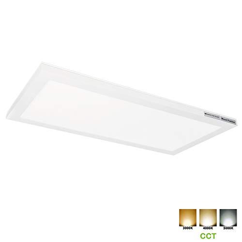 Hykolity 1x2 FT LED Flat Panel Flush Mount Light, 24W Ultra Slim Edge-Lit Ceiling Light Fixtures, 3/4/5K CCT 2400lm, Built-in Driver Surface Mount Light for Kitchen Garage Basement, ETL Listed