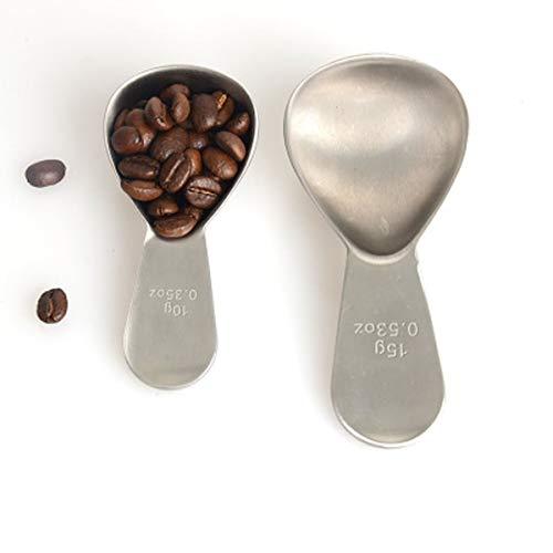 Kaiyitong01 Cucharada, cucharadas de café, Cuchara de Postre, Adecuada para Polvos de Crema de Granos de café, Material más Grueso, 10 Gramos / 15 Gramos Hermoso (Color : A(S))