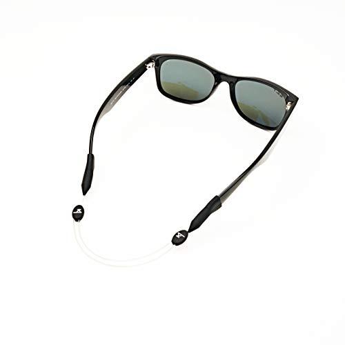 Luxe Performance Correa de cable – Premium ajustable sin cola correa de gafas de sol y retenedor de gafas para tus gafas de sol, gafas o gafas graduadas Luxe 35.5 cm transparente