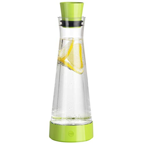 Emsa Flow Slim Friends Caraffa Reffrigerante, Verde Chiaro, 12 x 12 x 35.700000000000003 cm