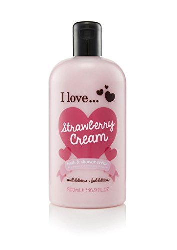 I Love bath shower 500ml Strawberry Cream