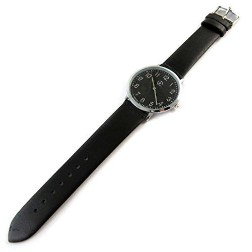 Trendy [N9494] - Designer-Uhr 'Trendy' Silber schwarz (schmal).