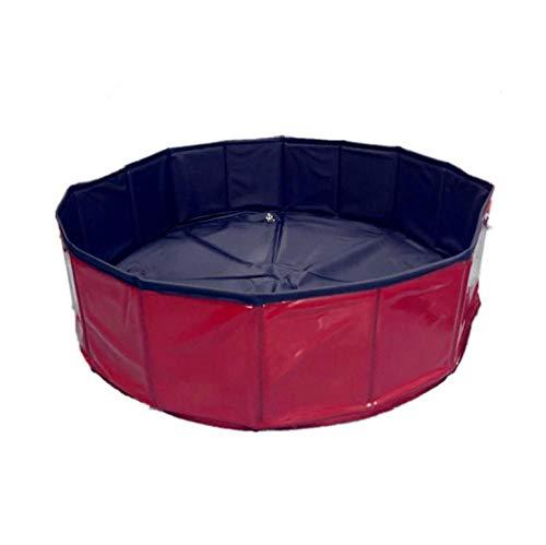 OKOUNOKO Piscinas Desmontables con Depuradora, Rojo, Piscina Desmontable Perro, 100X30Cm