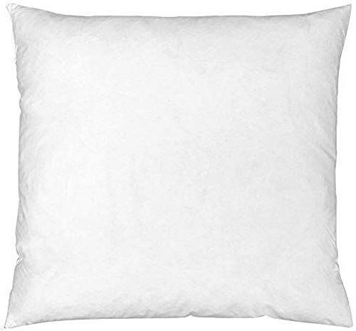 Riva Paoletti 100% Finest White Duck Feather Cushion Inner Pad, 67 x 67cm, Cotton, Ivory, 60 x 60cm