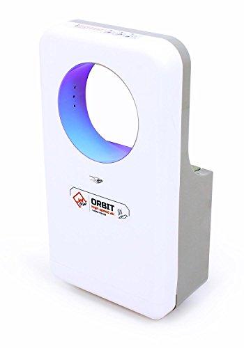 Jet Dryer, asciugamani elettrico Orbit–Asciugamani veloce e potente realizzato a mano con sistema antigoccia, colore bianco