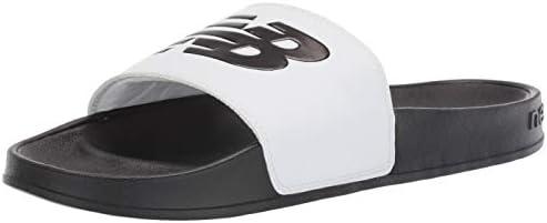 New Balance Men s 200 V1 Slide Sandal White Black 15 XW US product image