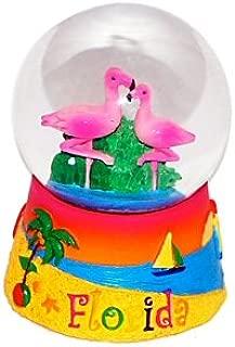 Florida Snow Globe - Flamingo 65MM, Florida Snow Globes, Florida Snow Domes