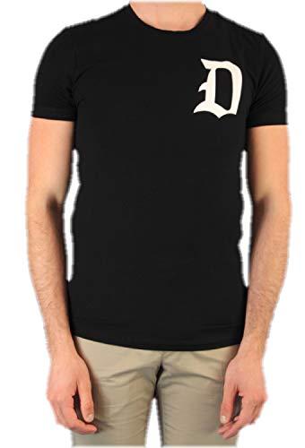DONDUP T-Shirt Uomo Nera con Logo US221JS0125ZC5 Nero L