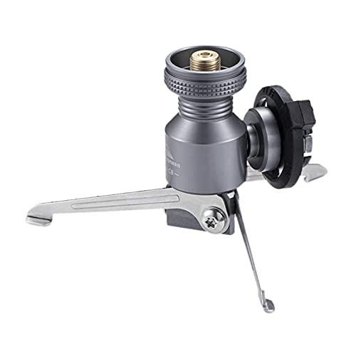 T TOOYFUL Campact - Adaptador para bombonas de gas para exteriores, trípode butano, conector para quemador plegable, accesorios para cocina de camping