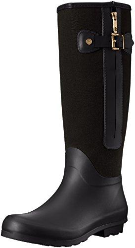 Tommy Hilfiger Women's Mela Rain Boot, Black, 10