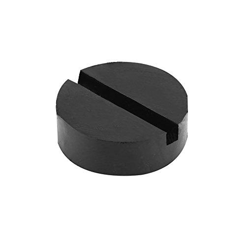 Qiilu ジャッキパッド ジャッキゴム ジャッキ低床タイプ アダプター型 ブラック 汎用