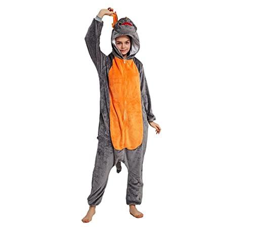 WEIYIing Erwachsener Pyjama-Overall wie Man seinen Drachen trainiert Cartoon einteiliger Pyjama Tier Cosplay Halloween Bühnenkostüme-Drachen Pyjama_L