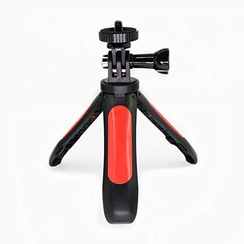 Yifant Extended Mini Handle Tripod for GoPro 6/5 Black/Xiaoyi 4K Action Camera Expansion Accessories 1/4 inch Screw Handle Selfie Stick Monopod (Red)