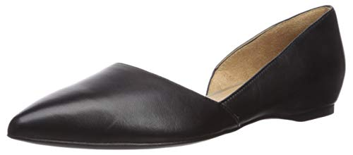 Naturalizer womens Samantha Loafer Flat, Black Leather, 10.5 US