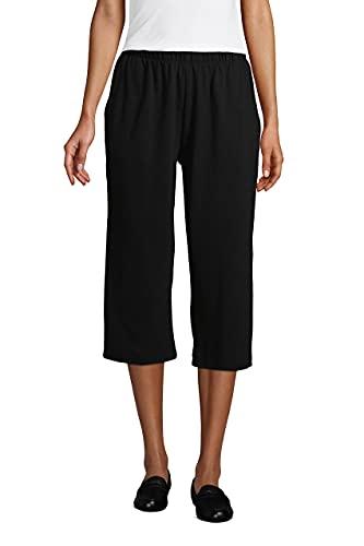 Lands' End Women s Sport Knit Capri Pants Black Petite Medium