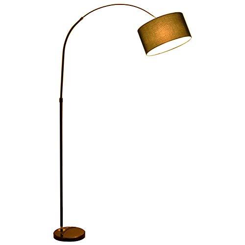 Afstandsbediening vissen vloerlamp, slaapkamer LED vloerlamp, tafellamp woonkamer, 10-15 vierkante meter licht luxe staande lamp-zwart + 9WLED drie kwaliteiten