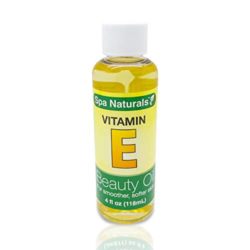 Spa Naturals Vitamin E Oil For Your Face & Skin - Helps Reduce Wrinkles, Fine Lines for Younger Skin. Reduces Stretch Marks & Scars. 4oz 1500 IU Vit E Bottle