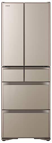 日立冷蔵庫430L6ドア強化ガラスドア観音開き日本製幅65.0cm真空チルドR-XG43KXNプレーンシャンパン