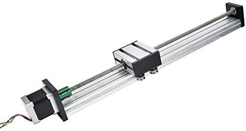 Auoeer Linear Slide Rail Aluminum Alloy 0808 Single-Shaft Trapezoid Ball Screw Slide Rail with 57 Motor(100mm) Tools