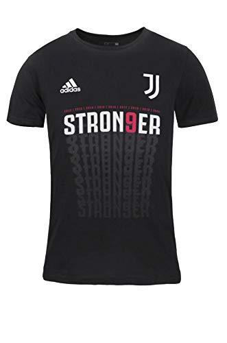 adidas Juventus STRON9ER Maglia Celebrativa 9 Scudetto 2019/20 Campione 38, Nero