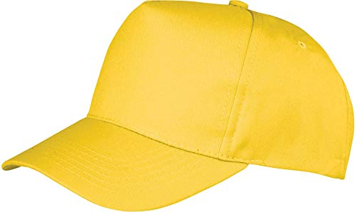 Resultado rc84 X Boston 5 Panel Cap, Unisex, Color Amarillo, tamaño Talla única