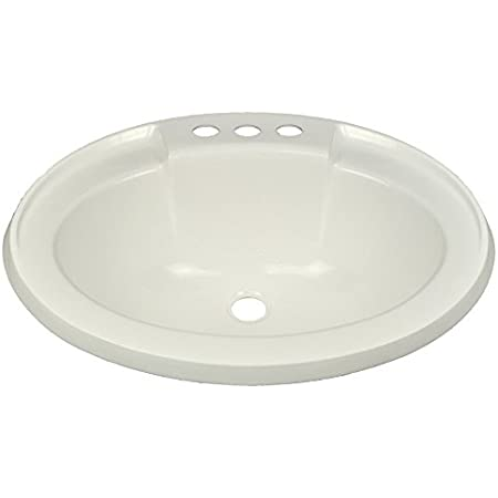 Kchex 17 X 20 White Oval Lavatory Sink For Mobile Homes Includes Drain Amazon Com