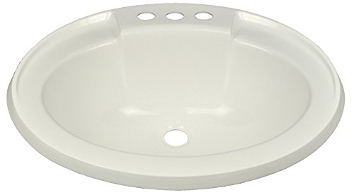 """17"""" x 20"""" White Oval Lavatory Sink for Mobile Homes Includes Drain"""