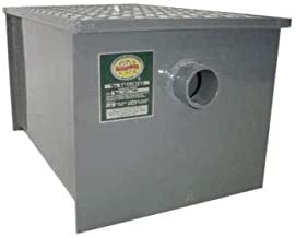Commerical Grade Carbon Steel Grease Trap 40 lb PDI Approved