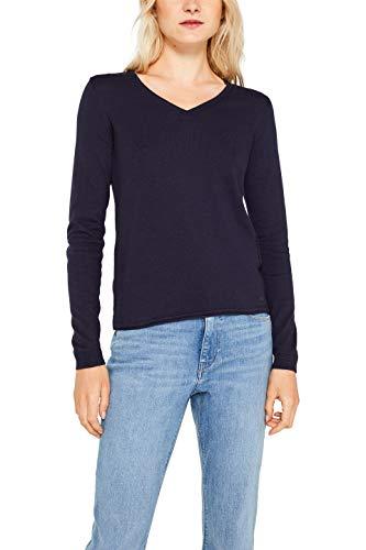 edc by ESPRIT Damen 999Cc1I801 Pullover, Blau (Navy 400), Small (Herstellergröße: S)