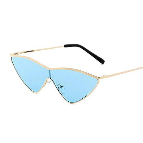 Gafas De Sol Gafas De Sol De Ojo De Gato Gafas De Sol De Espejo De Oro Rosa De Diseñador De Marca Vintage para Mujer Gafas De Sol Reflectantes De Metal Mujer Oro Azul