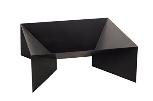 FARMCOOK Feuerschale PAN-2 schwarz lackiert in drei Größen (80x80x30 cm)
