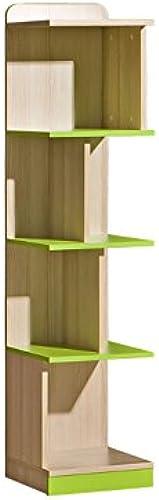 SMARTBett Stehregal Limo Esche Natur Grün