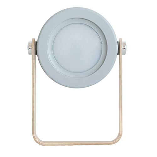 C&JQ Nachtlicht,Laternenlicht 3D Nachtlicht Tischlampe Tragbare Taschenlampe Holzgriff Textur Matte Farbe Metalldekoration(Eingang: DC 5V)