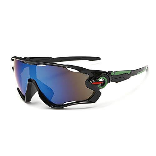 Óculos De Sol Bike Ciclismo Esportivo Proteção Uv Espelhado (Preto)