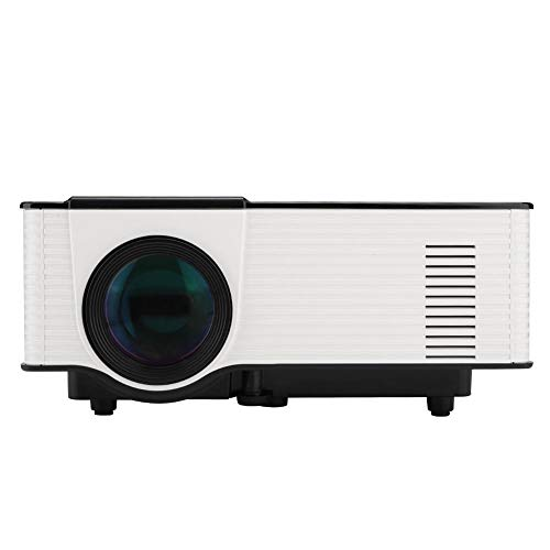 Estink HD LED Projector, 1500 lumens, Support 1080P External Phone Synchronization Screen Micro Projector, 4:3 and 16:9 Compatible Aspect Ratio, Stereo Speakers, Remote Control(US)