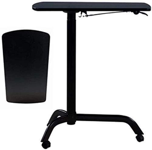 FGVBC Atril Podio Podio Ajustable en Altura con Ruedas Mesa de Centro de Esquina Ideal para sermones y presentaciones (Color: Negro B)