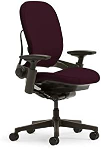 Steelcase Leap Office Chair - Burgundy with Black Base
