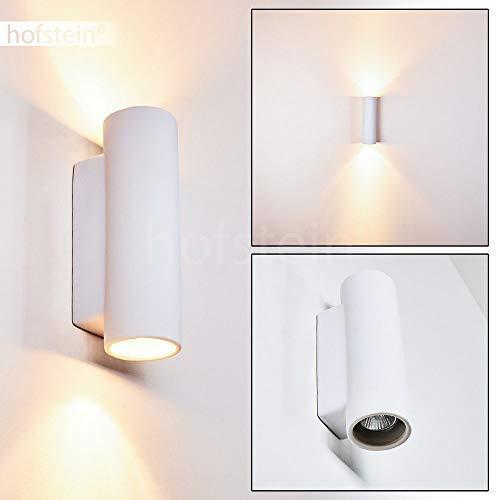 Wandlamp Nuovodi van keramiek in wit Wandlamp met op & neer effect, 2 x GU10 fitting, max. 50 Watt, interieur wandlamp kan worden beschilderd met standaard kleuren, geschikt voor LED verlichting.