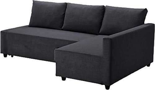 Easy Slipcover Cotton Sectional Sofa Bed Gray