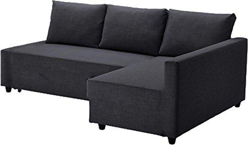 Cubierta / Funda solamente! ¡El sofá no está incluido! Gris oscuro Friheten gruesa de algodón cubierta está hecha para IKEA Friheten Sofá cama, o esquina, sección fundas. Brazo izquierdo de más largo