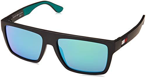 Tommy Hilfiger Sonnenbrillen (TH-1605-S 3OLZ9) matt schwarz - matt grün - grau mit grün verspiegelt effekt