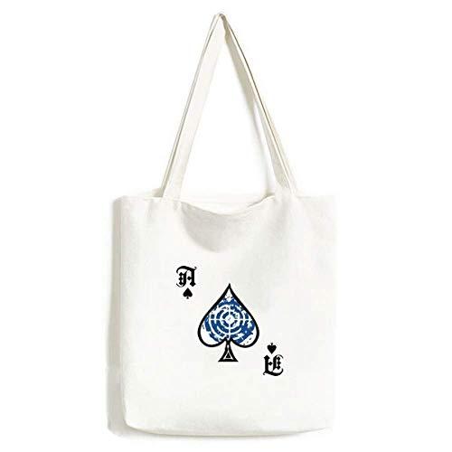 Blue Target Design Runde Illustration Muster Handtasche Craft Poker Spaten waschbare Tasche