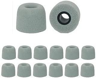 Earphones Plus C-6MF-GYL Memory Foam Earbuds, Replacement Ear Buds for in Ear Earphones, Gray - Large